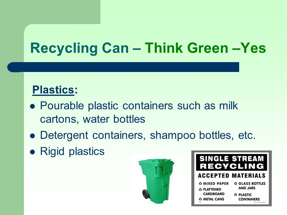 Recycling Can – Think Green –Yes