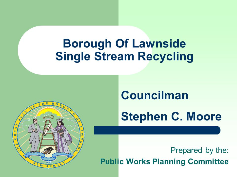 Borough Of Lawnside Single Stream Recycling