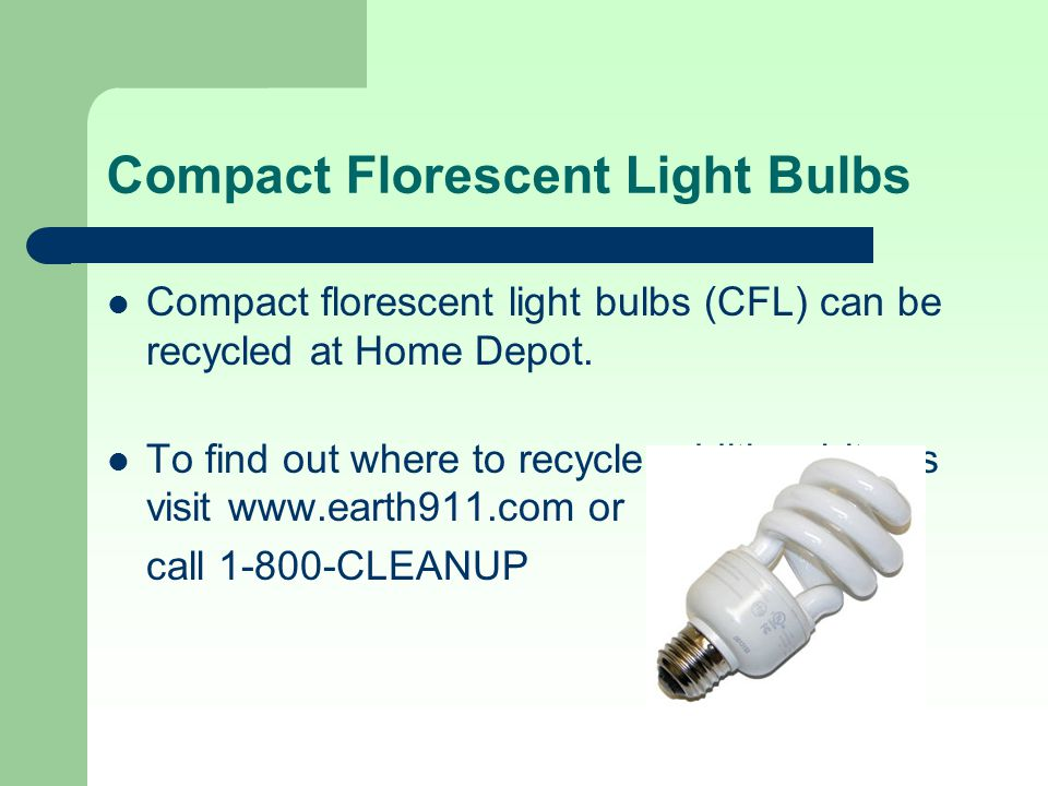 Compact Florescent Light Bulbs