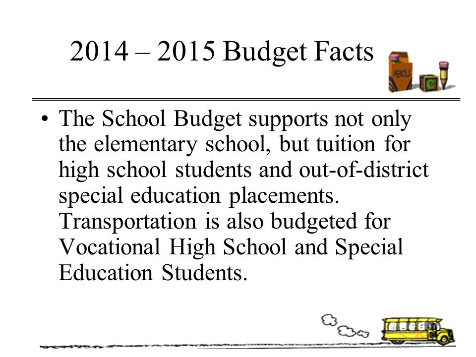 2014 – 2015 Budget Facts