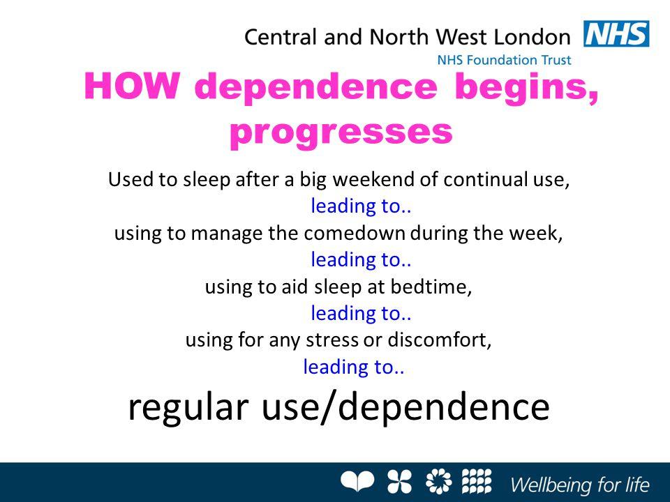 HOW dependence begins, progresses