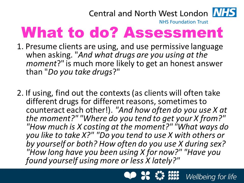What to do Assessment