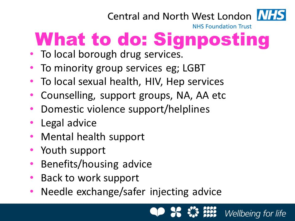 What to do: Signposting