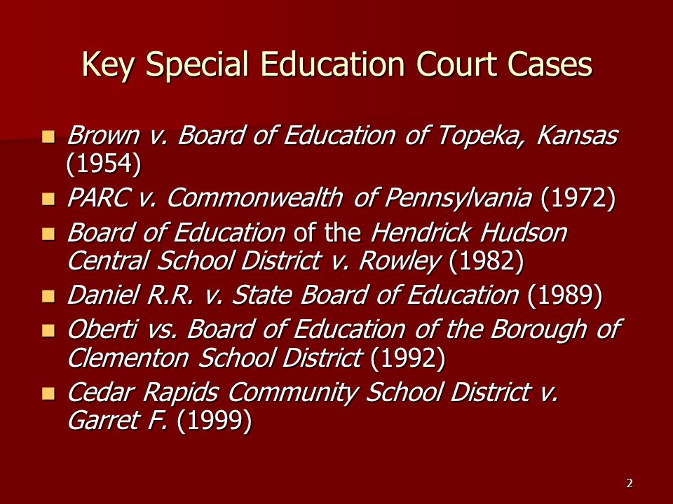 Key Special Education Court Cases
