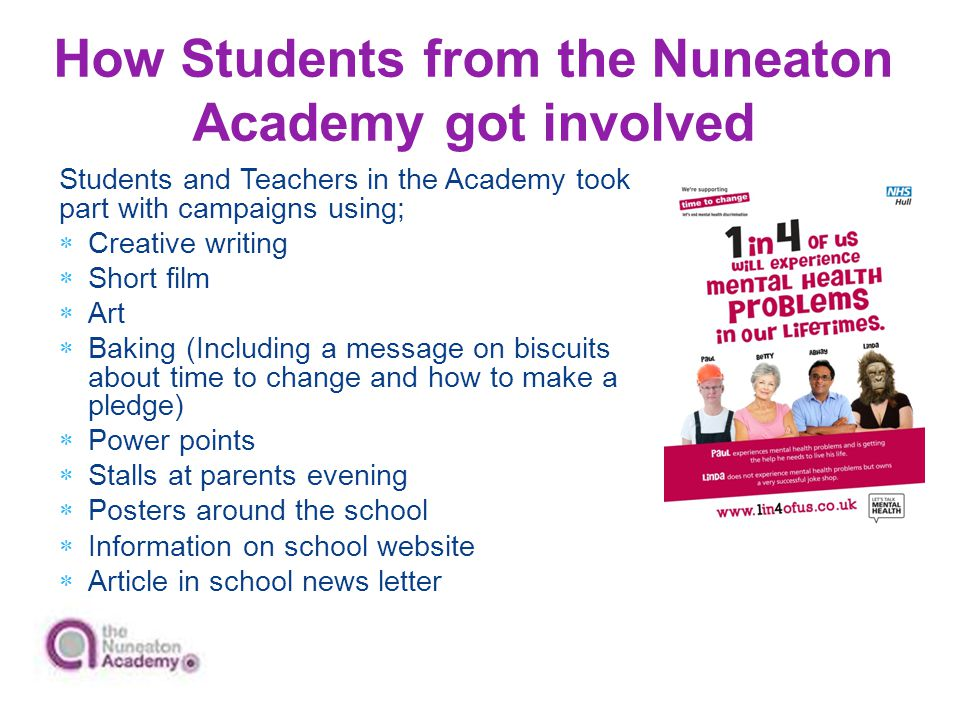 How Students from the Nuneaton Academy got involved
