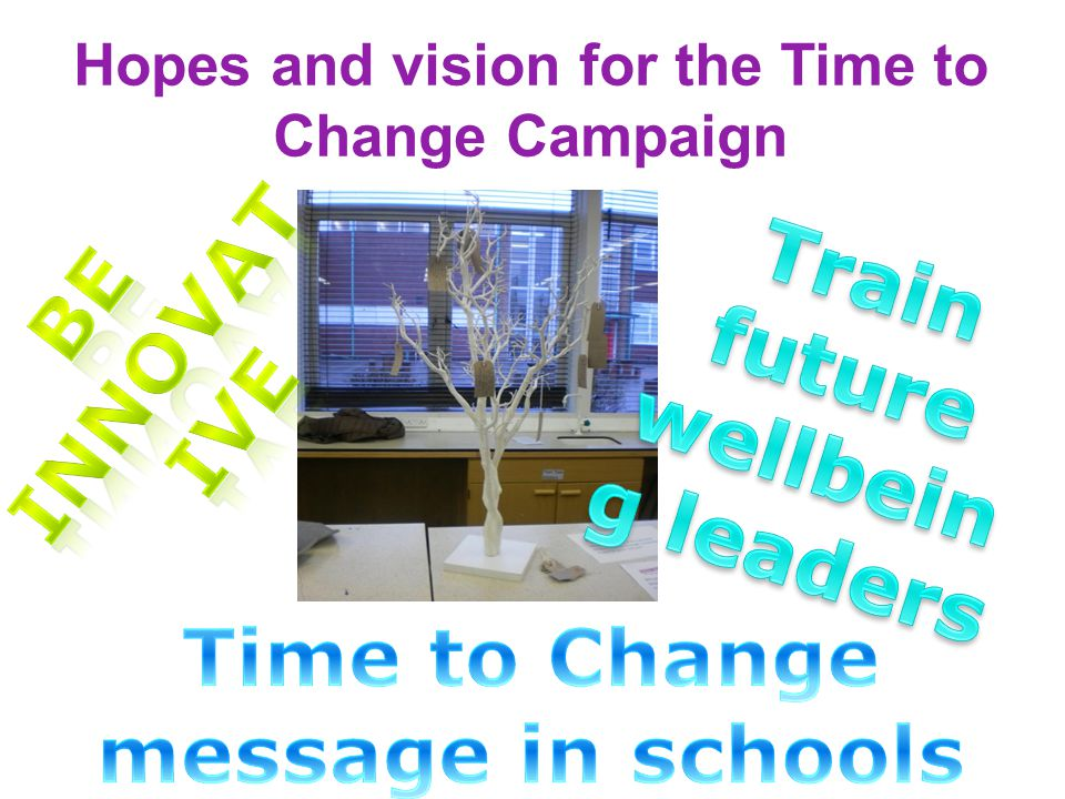 Hopes and vision for the Time to Change Campaign