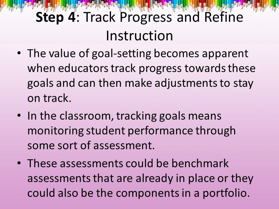 Step 4: Track Progress and Refine Instruction