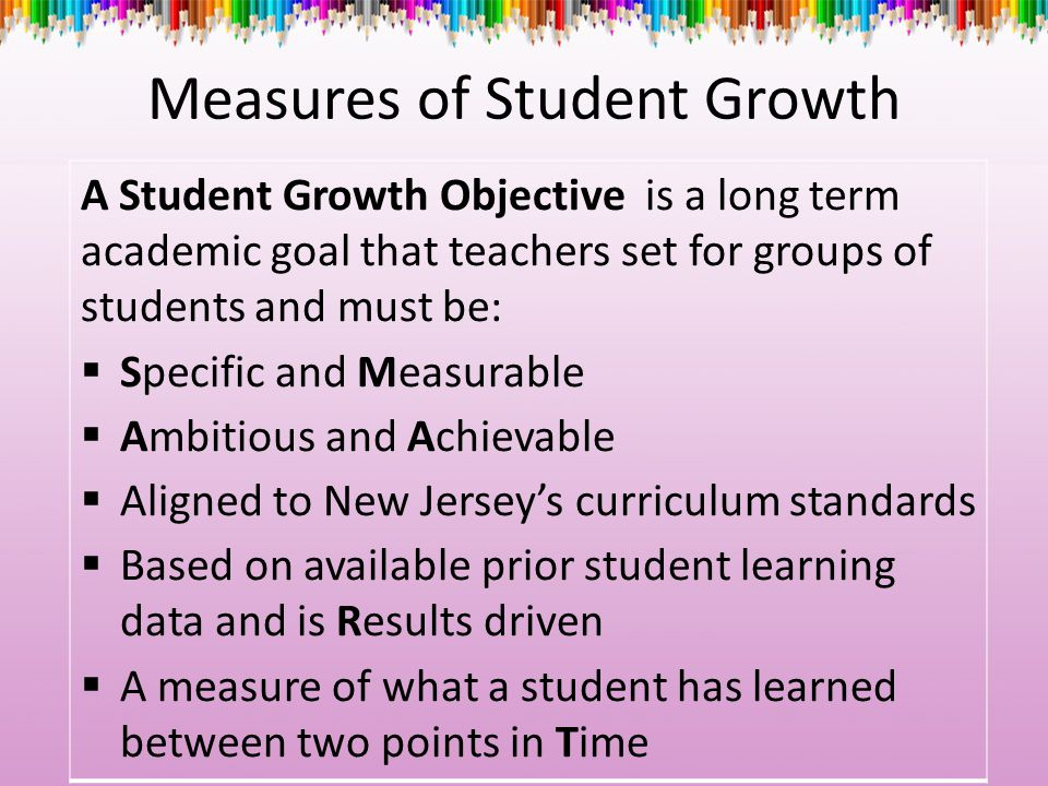 Measures of Student Growth