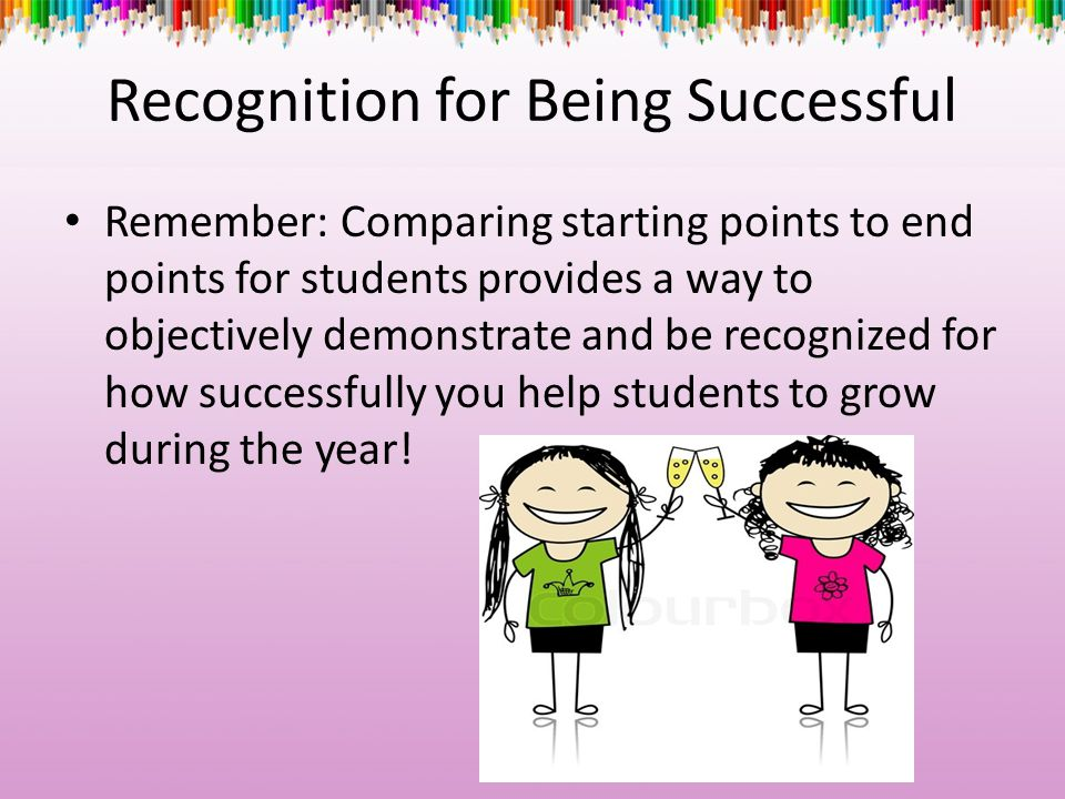 Recognition for Being Successful