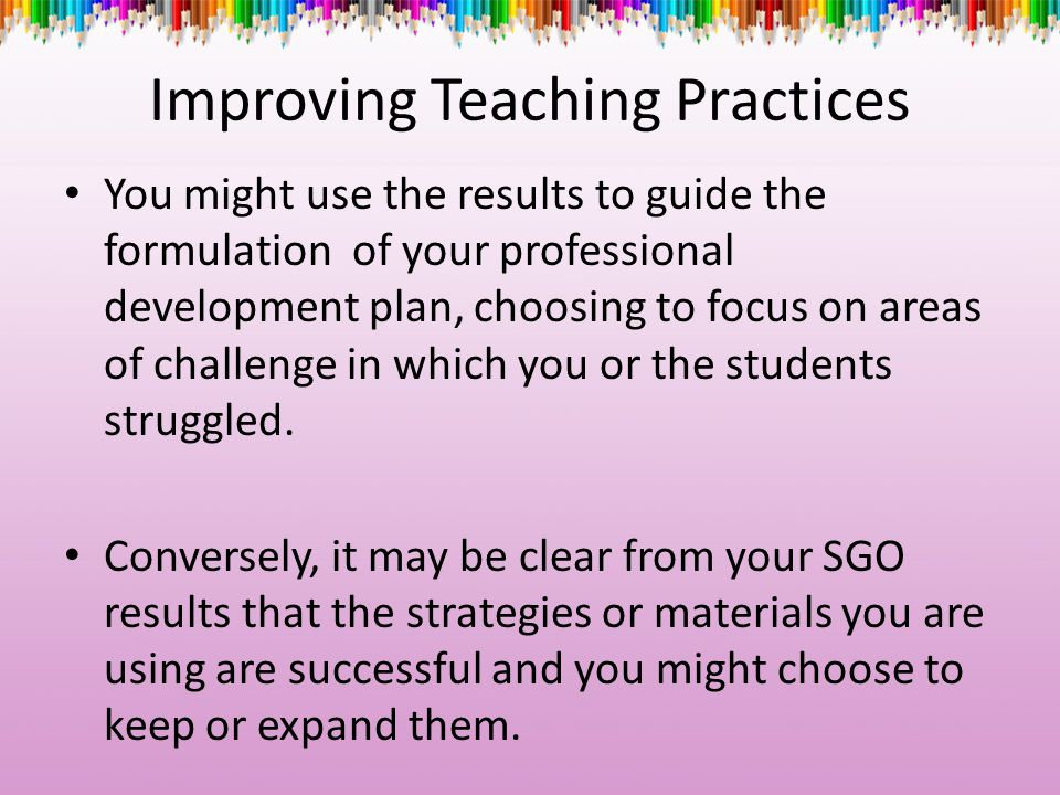Improving Teaching Practices