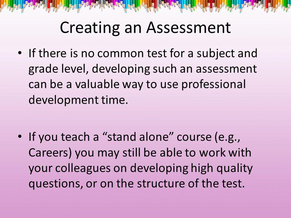 Creating an Assessment