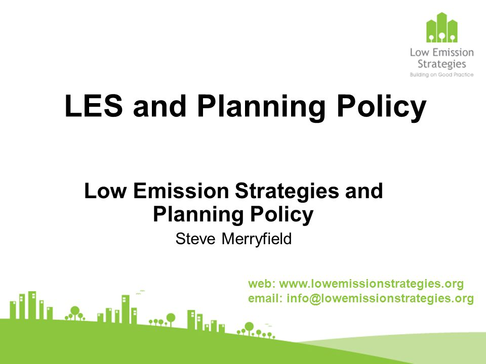 LES and Planning Policy