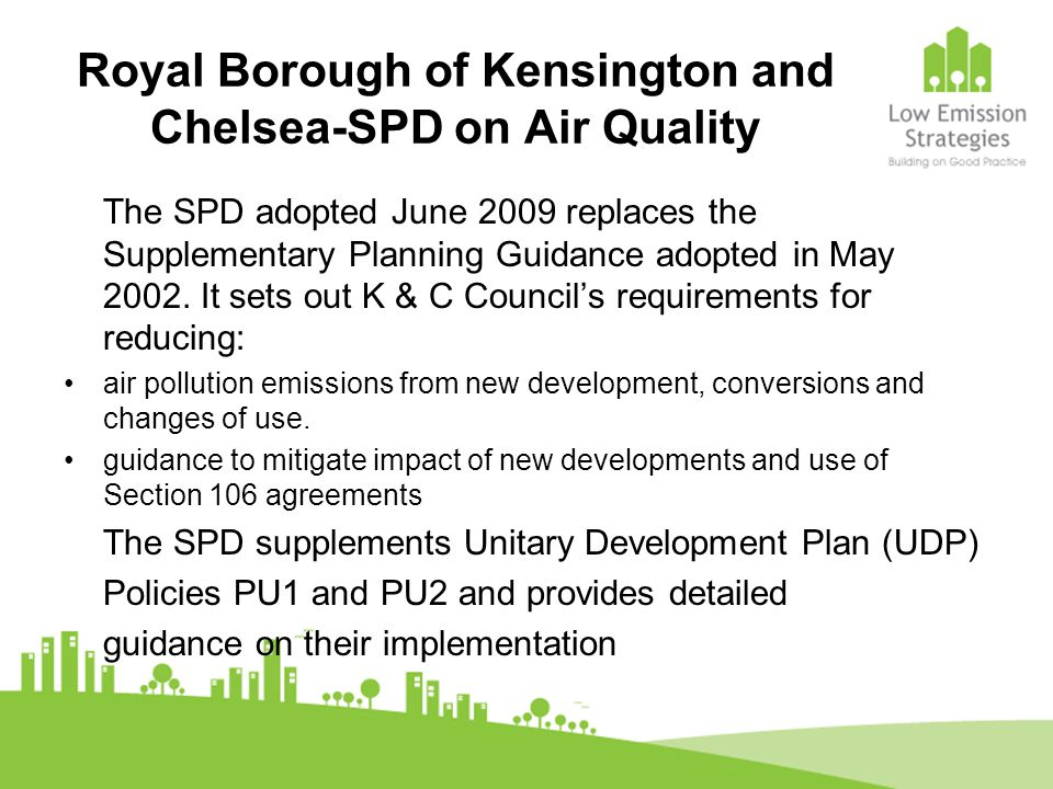 Royal Borough of Kensington and Chelsea-SPD on Air Quality
