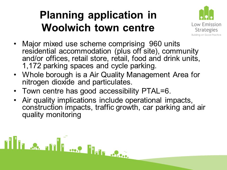 Planning application in Woolwich town centre