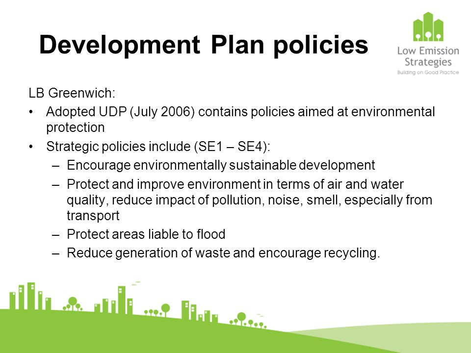 Development Plan policies