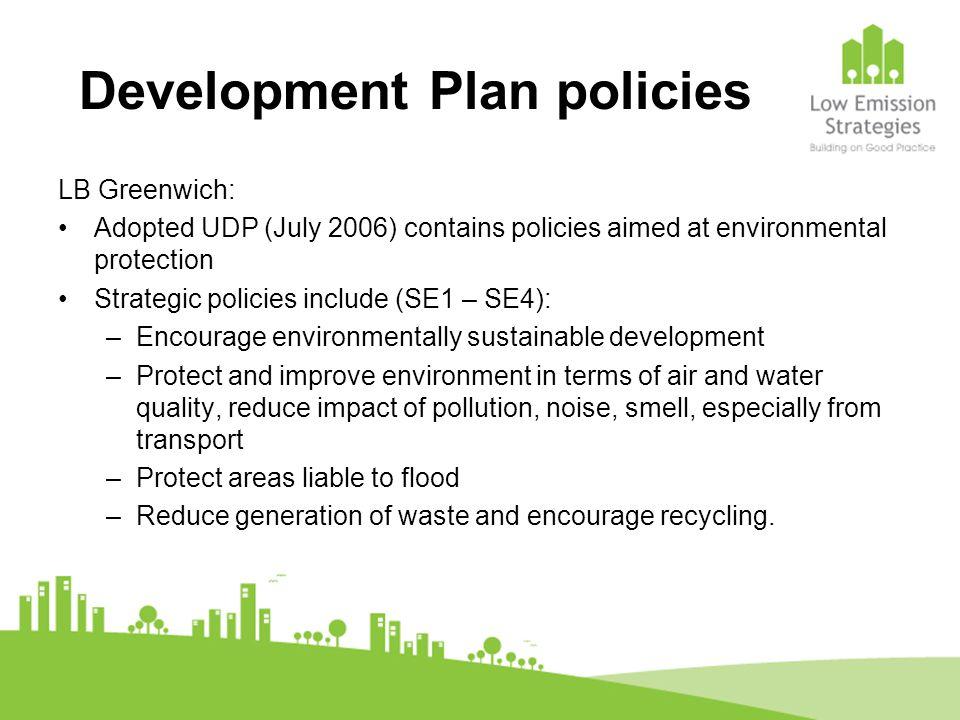 Development Plan policies