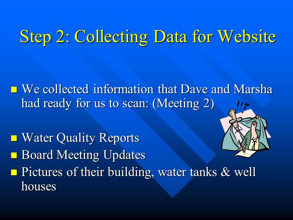 Step 2: Collecting Data for Website