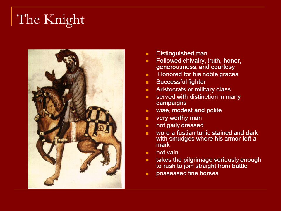 The Knight Distinguished man