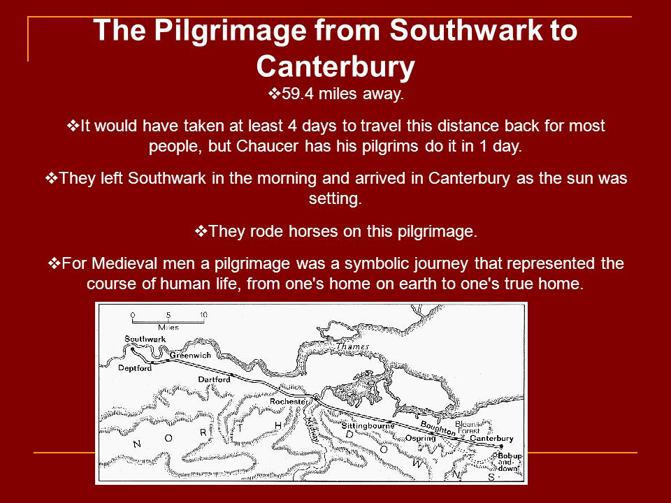 The Pilgrimage from Southwark to Canterbury