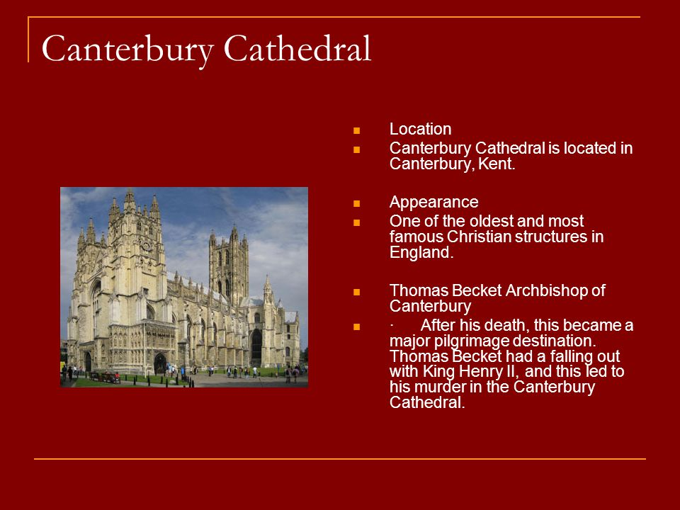 Canterbury Cathedral Location