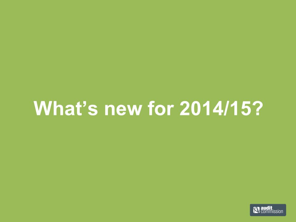 What's new for 2014/15