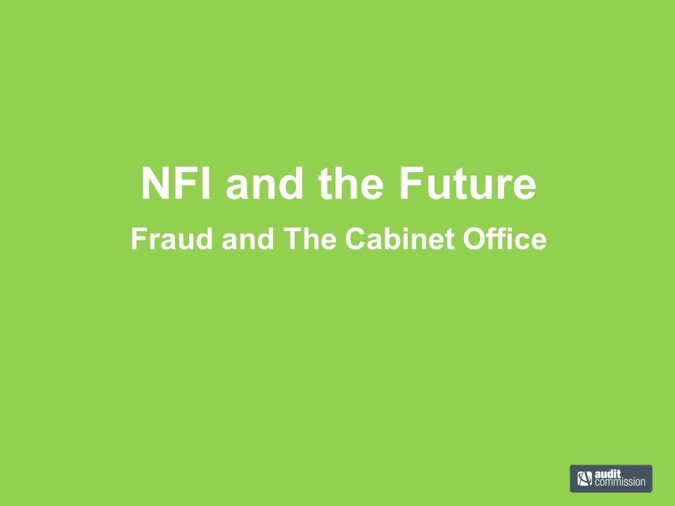 Fraud and The Cabinet Office