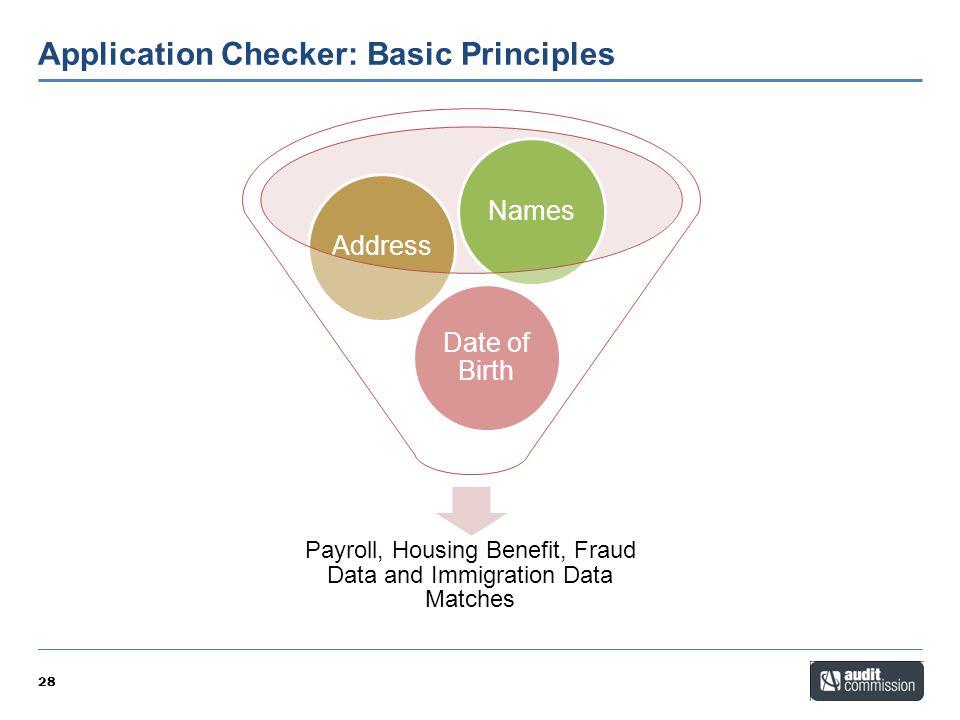 Application Checker: Basic Principles