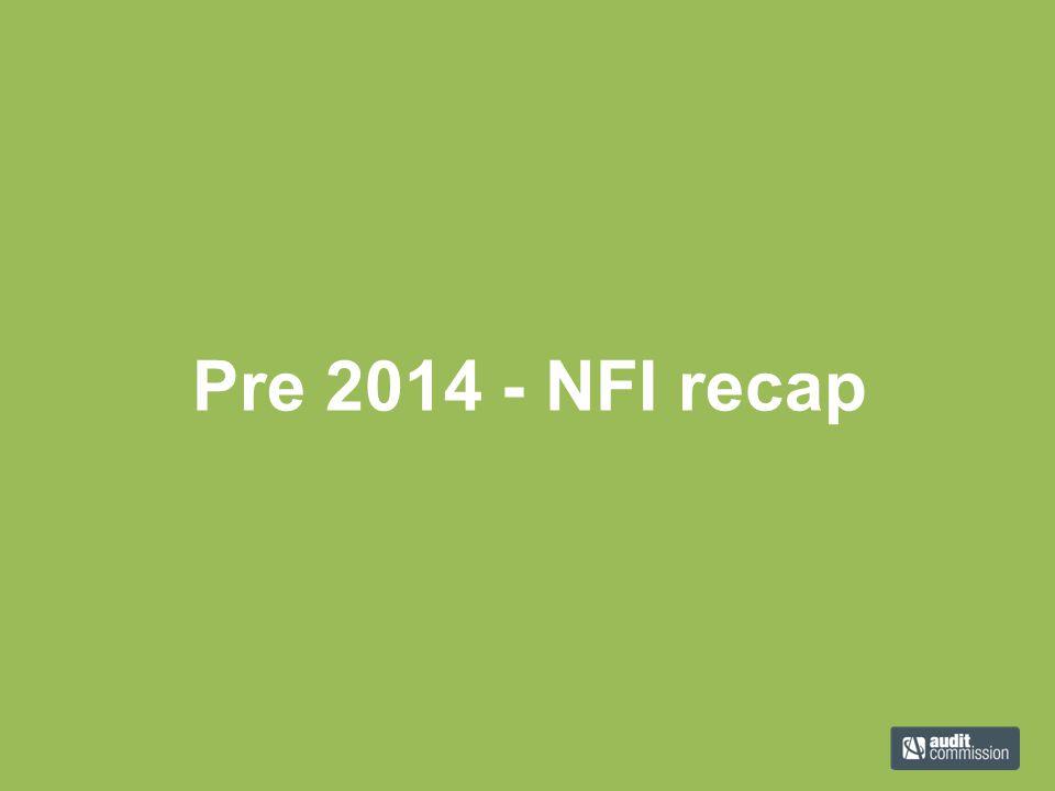 Pre 2014 - NFI recap