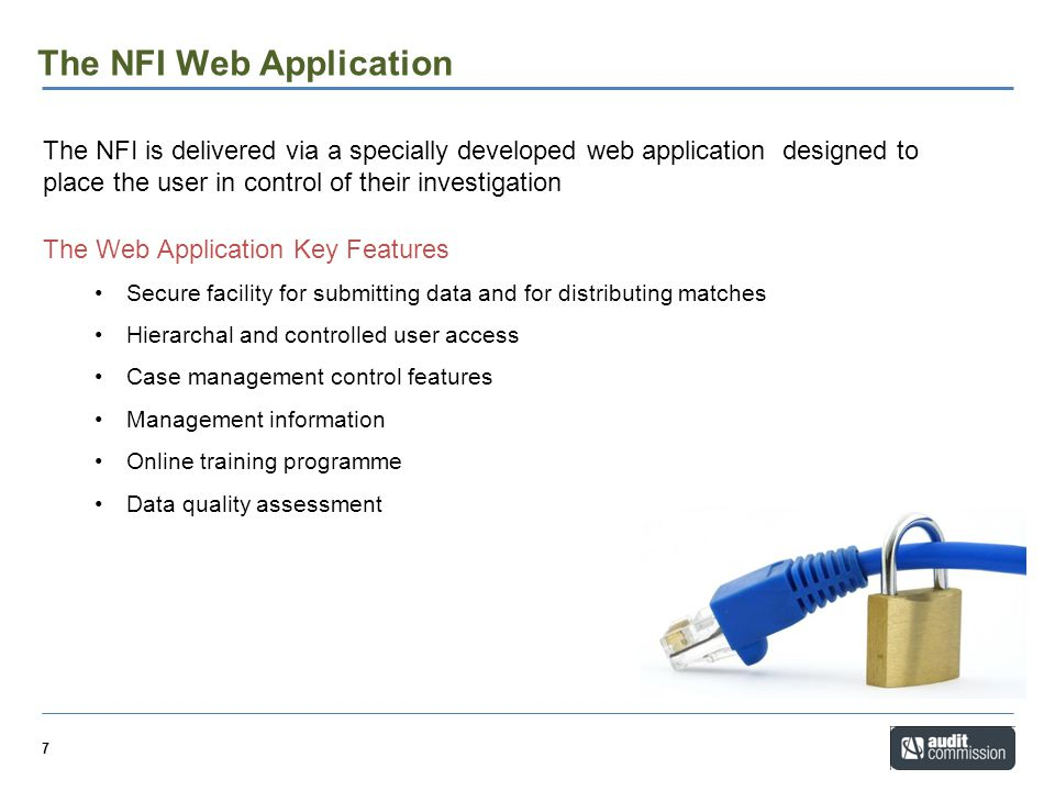 The NFI Web Application