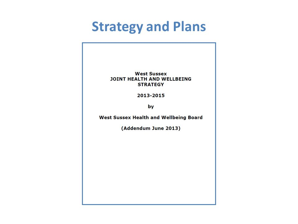 Strategy and Plans