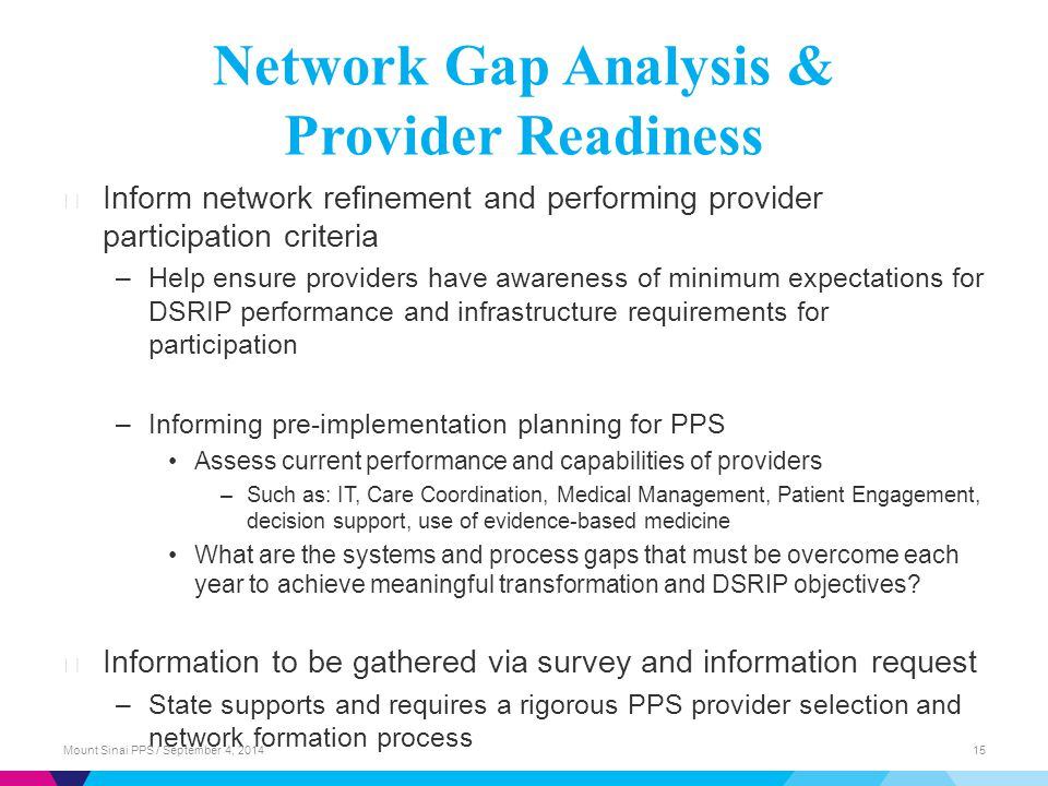 Network Gap Analysis & Provider Readiness