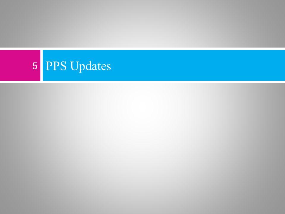 PPS Updates