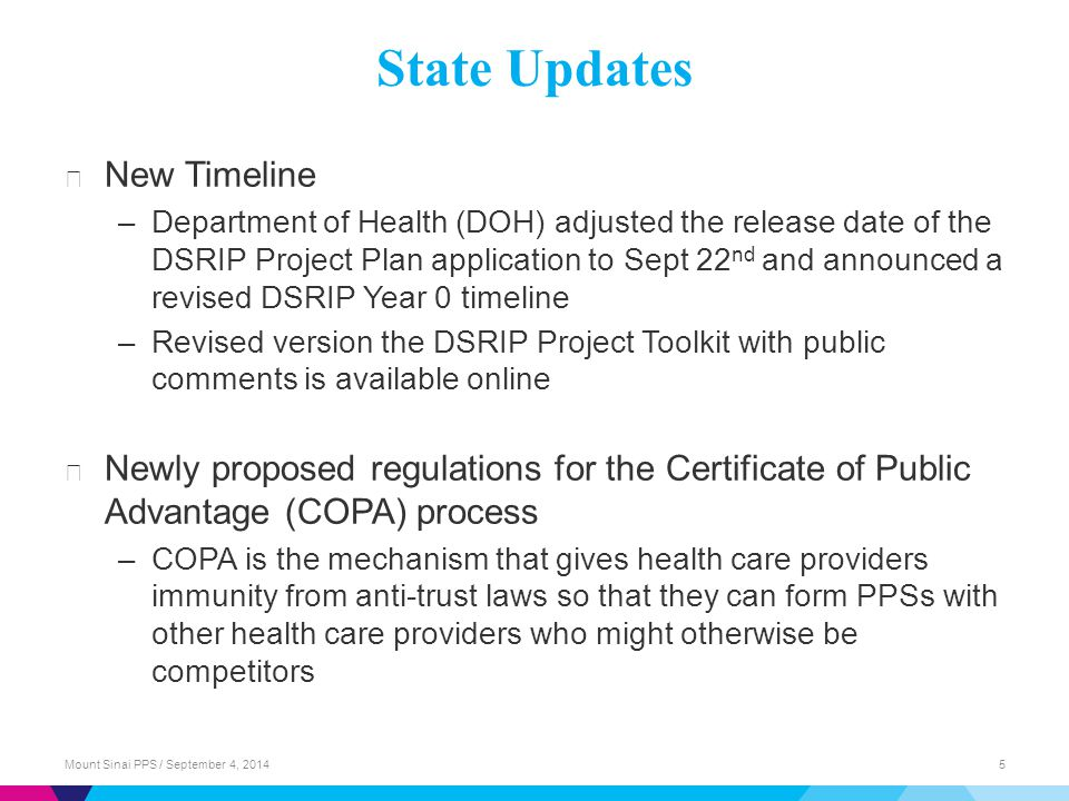 State Updates New Timeline
