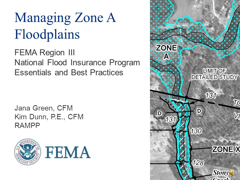 Managing Zone A Floodplains
