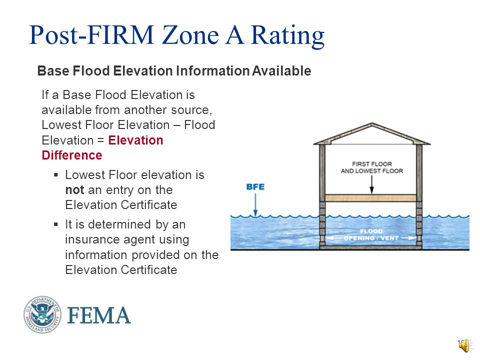 Lowest Floor Elevation Fema Form : Managing zone a floodplains ppt video online download