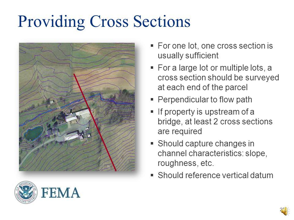 Providing Cross Sections