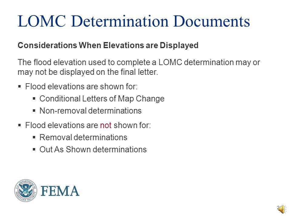 LOMC Determination Documents