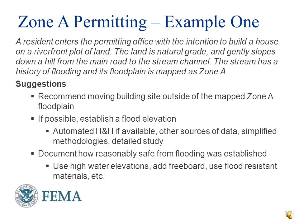 Zone A Permitting – Example One