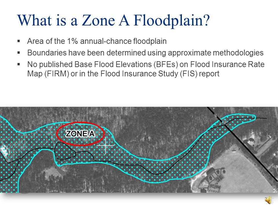 What is a Zone A Floodplain