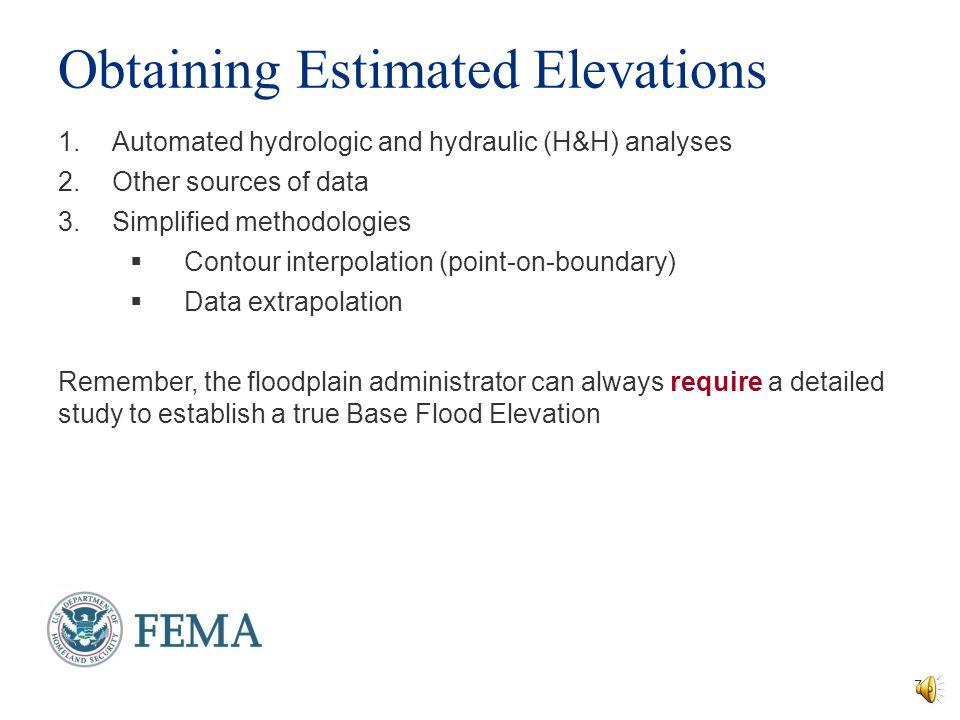 Obtaining Estimated Elevations