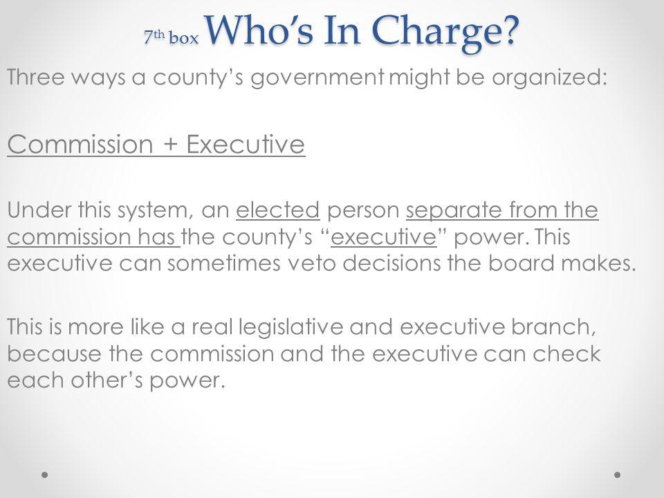 Commission + Executive