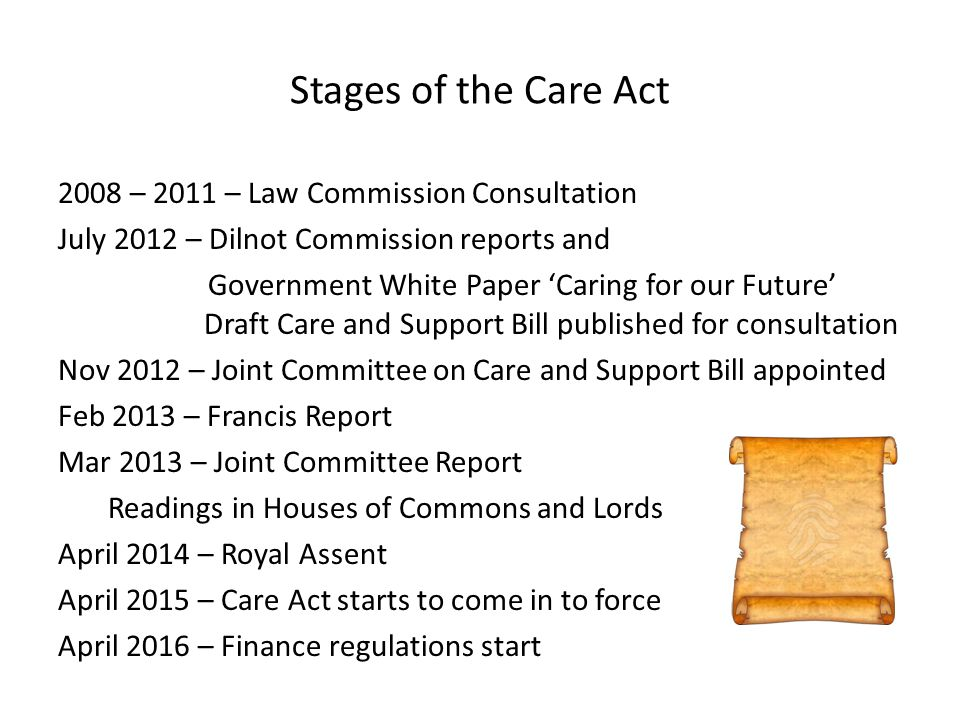 Stages of the Care Act