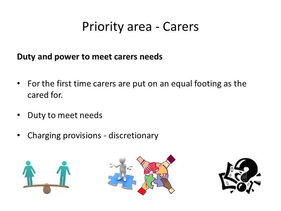 Priority area - Carers Duty and power to meet carers needs