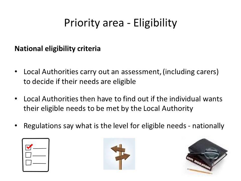 Priority area - Eligibility