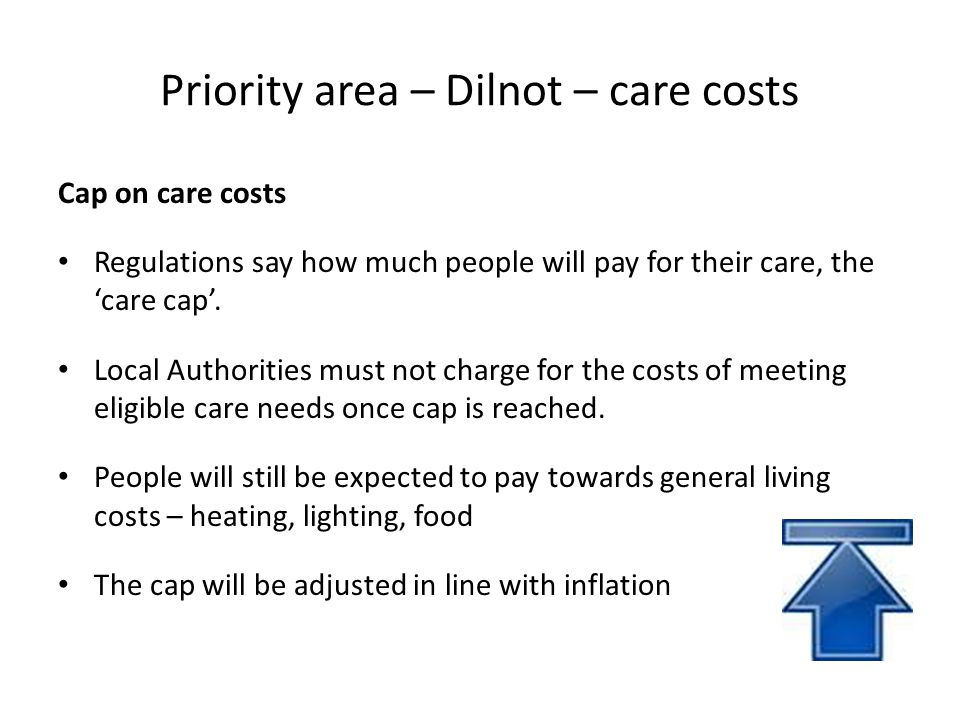 Priority area – Dilnot – care costs