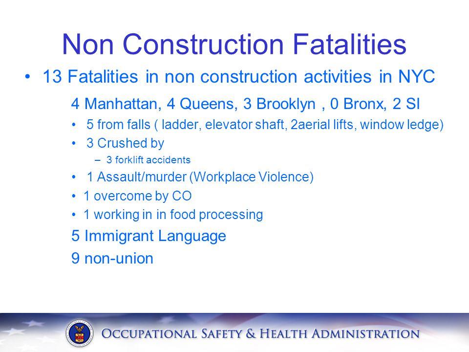 Non Construction Fatalities