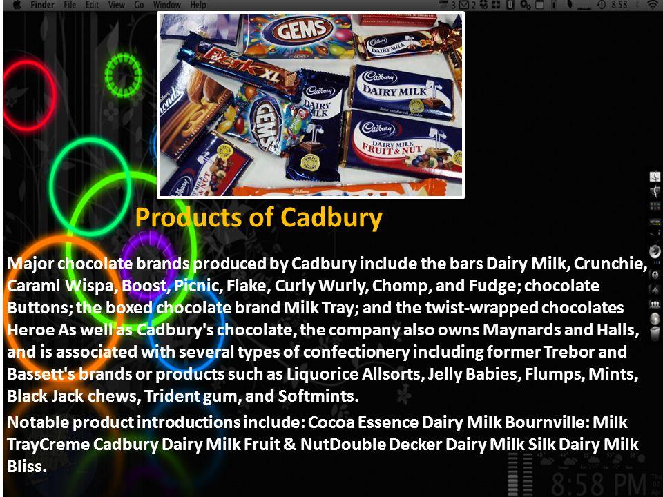 Products of Cadbury