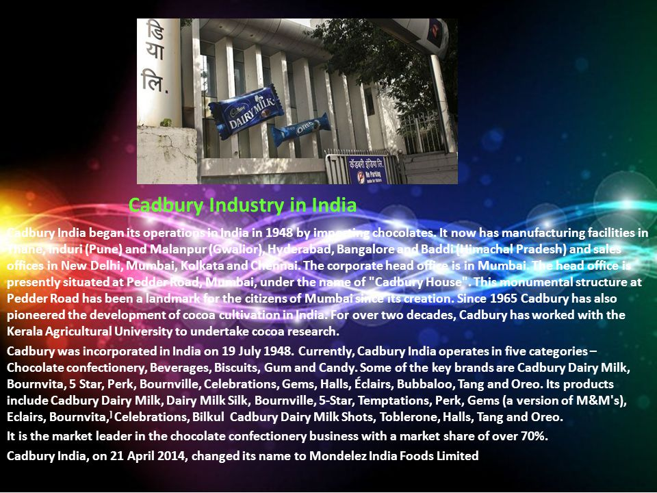 Cadbury Industry in India
