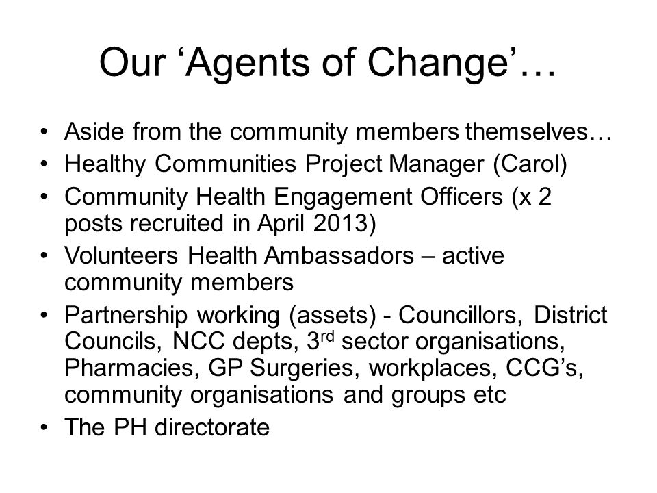 Our 'Agents of Change'…