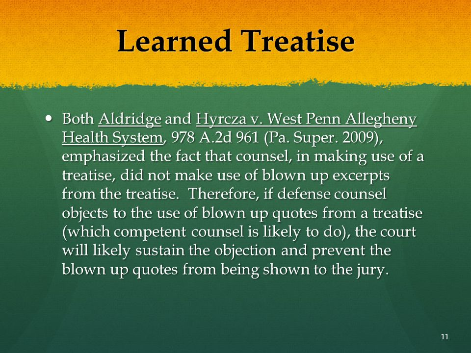 Learned Treatise